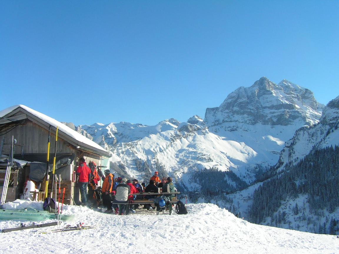 Catering beside the ski-lift